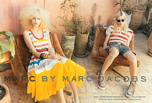Model Andrej Pejic's Marc by Marc Jacobs Campaign