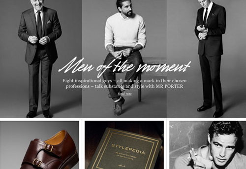 Mr porter the luxury men s fashion e retailer launches for Mr porter live