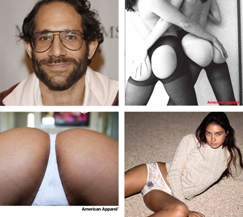 Top Left: American Apparel CEO Dov Charney, Top Right: 2004 American Apparel ...