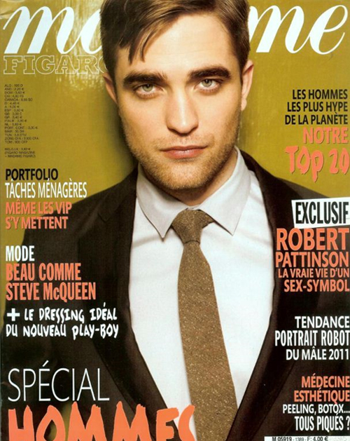 COVERED: Robert Pattinson for Madame Figaro May 2011 Cover