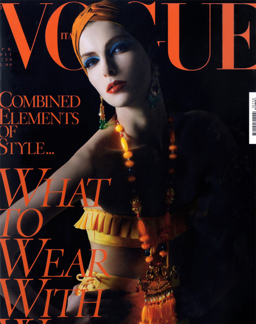 Kristina Salinovic for Vogue Italia April 2011 Cover