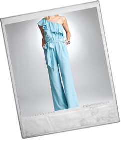 Ruffle One Shoulder Jumpsuit