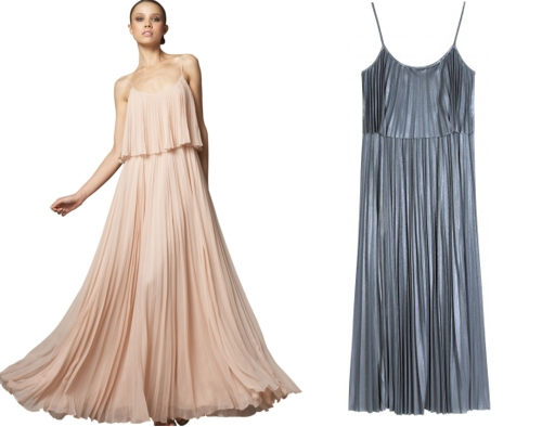 Current Obsession: Halston Heritage Pleated Chiffon Long Dress ...