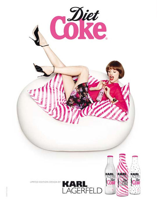 Karl Lagerfeld Diet Coke Campaign for Summer 2011