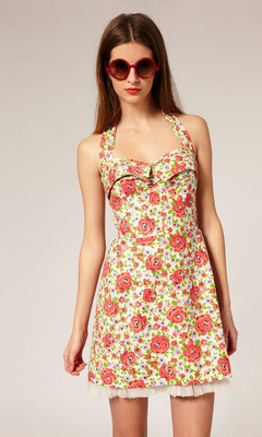 Five Flirty Floral Dresses for Summer: Karen Walker A-Line Halter Neck Dress