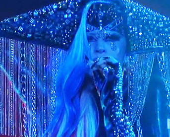 Lady Gaga at American Idol Finale 2011