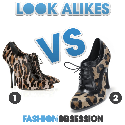 Look Alikes: Giuseppe Zanotti VS. Roberto Festa Lace-Up Leopard Booties