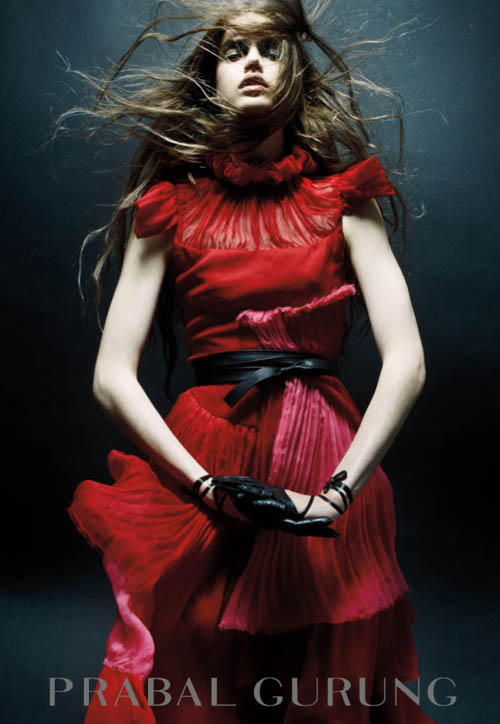 Eccentric Glamour Meets Dark Romanticism in Prabal Gurung's New Fall/Winter 2011 Campaign
