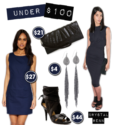 Under $100: Crystal Renn in Navy and Black  Z Spoke by Zac Posen Outfit