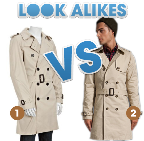 Look Alikes: Men's Burberry vs. Shades of Grey Classic Trench