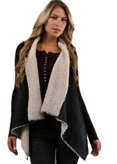 Twisted Heart Tia Vest in Black