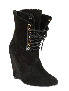 Daynaa Lace Up Wedge Bootie