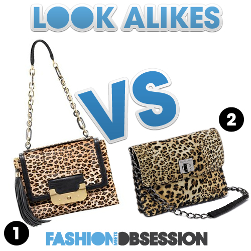 Look Alikes: Diane von Furstenberg  vs. BCBGeneration Leopard Bag