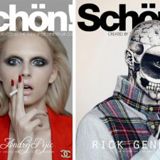COVERED: Andrej Pejic and Rick Genest on Schön! Magazine's Dual Covers