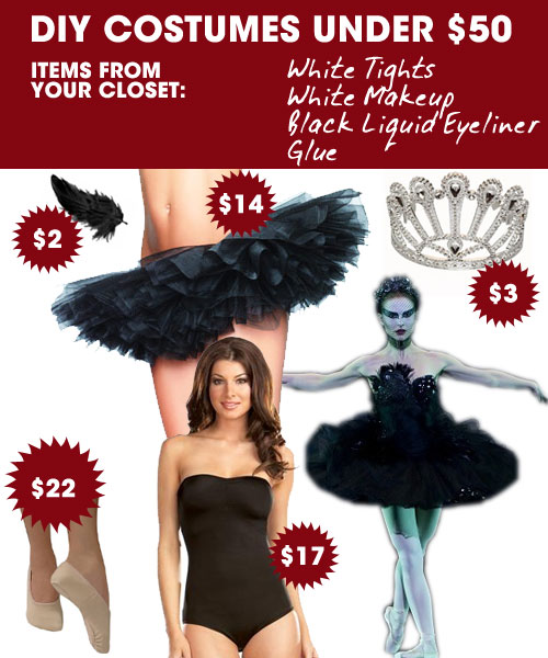 diy halloween costumes under 50 natalie portmans black swan