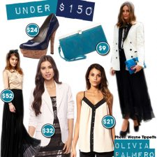 Under $150: Olivia Palmero's Smoking Jacket Paired with Chiffon