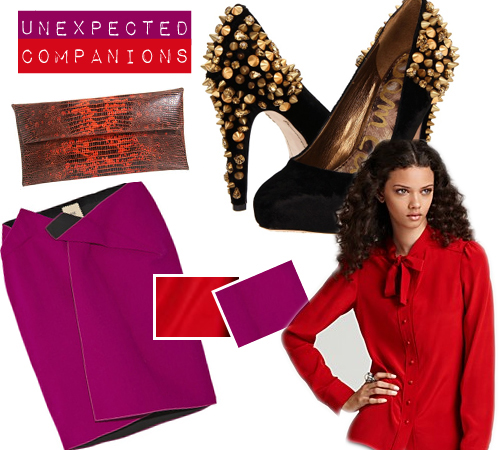 Unexpected Fashion Companions: Red & Purple