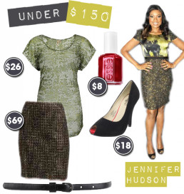 Under $150: Jennifer Hudson in Abstract Elie Tahari