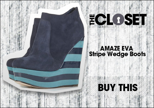 AMAZE EVA Stripe Wedge Boots