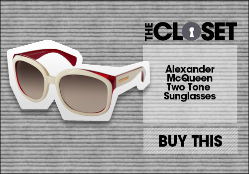 Alexander McQueen Two Tone Sunglasses