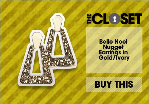Belle Noel Nugget Earrings in Gold Ivory