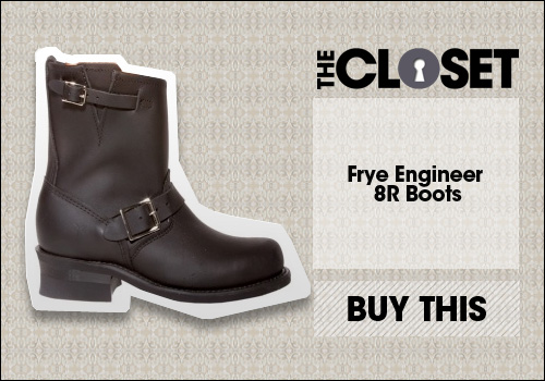 8R Engineer Boot in Black