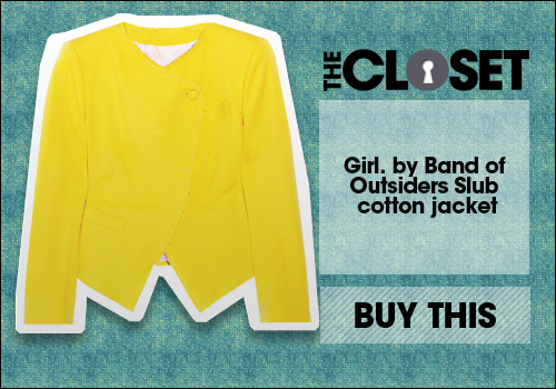 Girl. by Band of Outsiders Slub cotton-blend jacke..