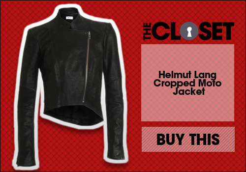 Helmut Lang Cropped Moto Jacket