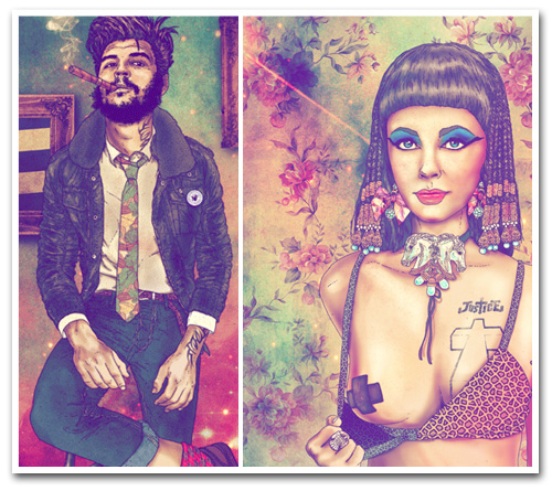 Chilean Artist Creates Hipster Versions of Dali, Frida Kahlo, Che Guevara and Jesus