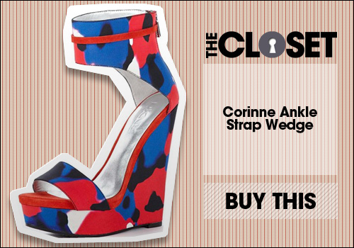 Runway Corinne Ankle Strap Wedge