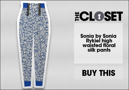 Sonia by Sonia Rykiel High-waisted floral-print silk pants