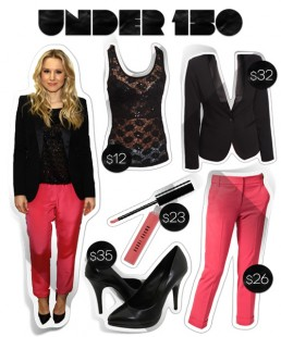 Under $150: Kristen Bell's Color Popping Pink Outfit