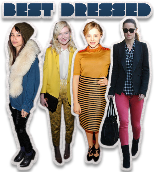 This Week's Best Dressed: Zoe Kravitz, Kirsten Dunst, Chloe Moretz and Pippa Middleton