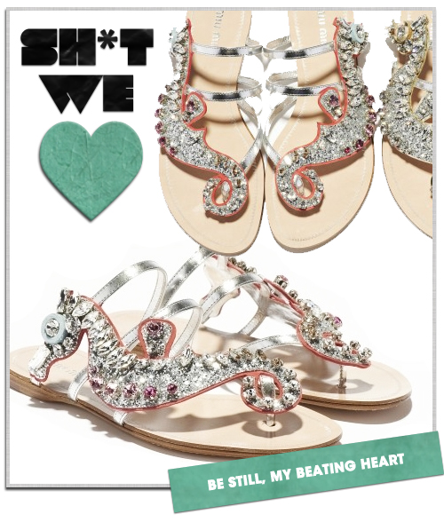 Sh*t We Love: Miu Miu's Aquatic Seahorse Sandals
