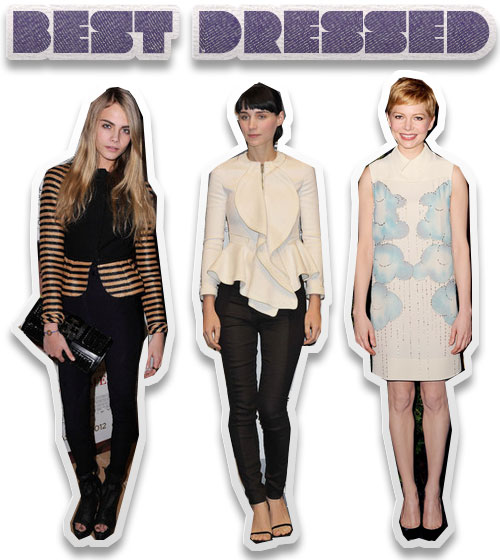 This Week's Best Dressed: Cara Delevingne, Rooney Mara and Michelle Williams