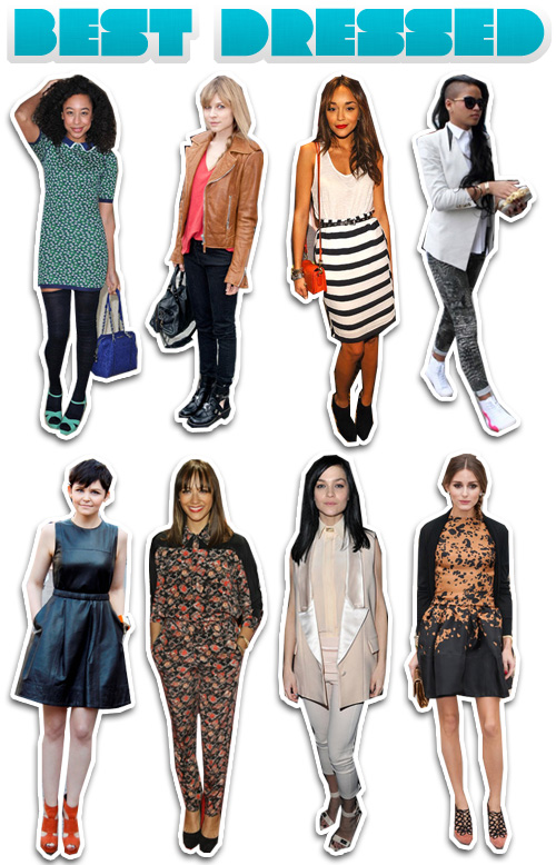 This Week's Best Dressed: Ginnifer Goodwin, Rashida Jones, Olivia Palermo and Corinne Bailey Rae