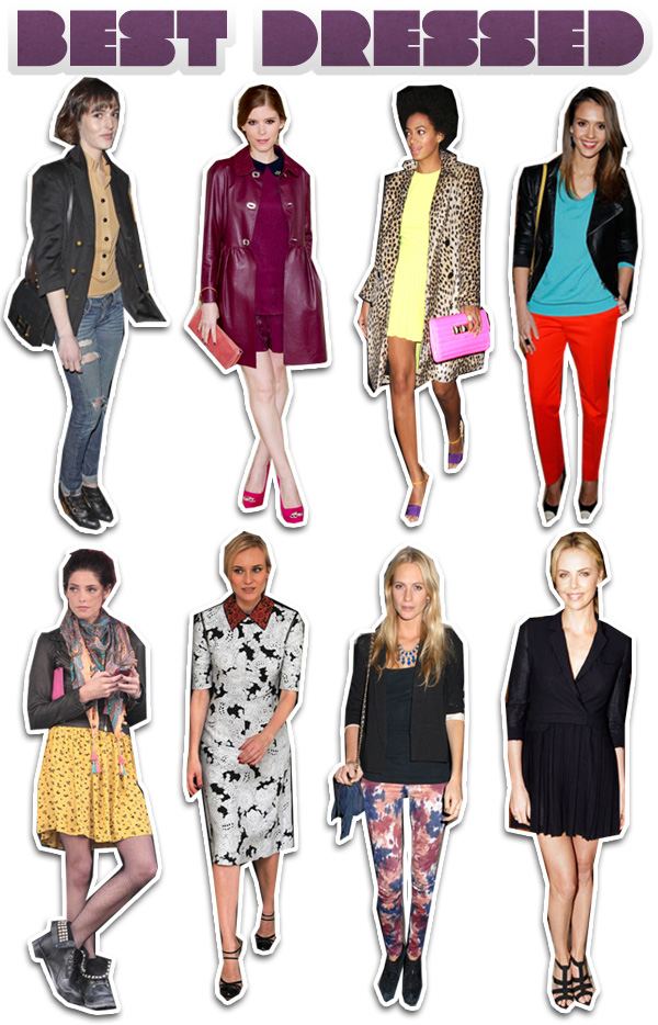 This Week's Best Dressed: Charlize Theron, Jessica Alba, Kate Mara and Diane Kruger
