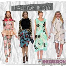 Fashion in 3D: Extravagant Folds and Embellishments Add Another Dimension to RTW Apparel