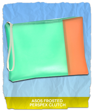 ASOS Frosted Perspex Clutch