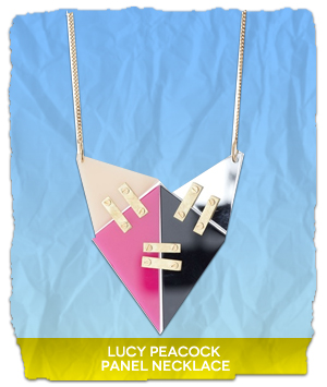 Lucy Peacock Panel Necklace