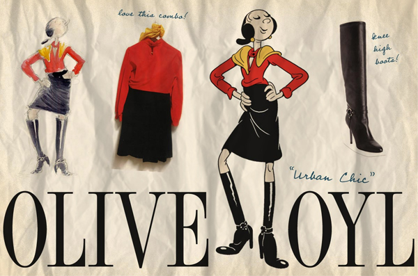 The Standard Hotel Pays Tribute to Cartoon Character Olive Oyl's Vintage 40s Style (1)