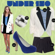 Under $150: Olivia Palermo in Nautical Stripes and Pops of Color