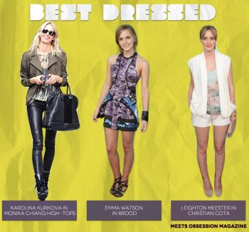 Best Dressed (from left to right): Karolina Kurkova, Emma Watson, Leighton Meester