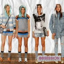 Marc Jacobs Revisits the 70s, 80s and 90s with Camouflage and Striped Resort 2013 Collection