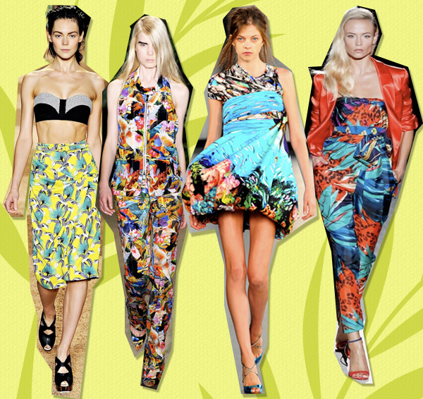 Club Tropicana  Exotic Prints Take Over This Summer