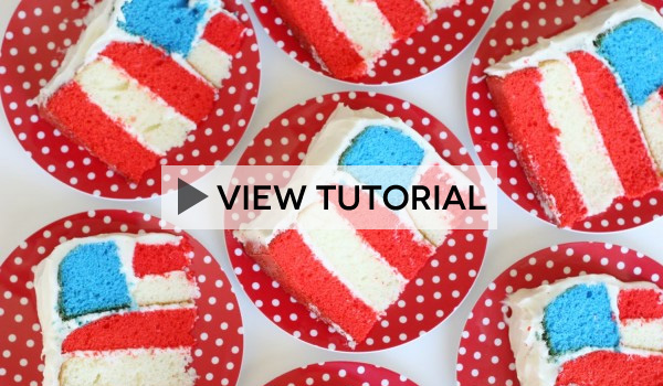 American Flag Cake Tutorial