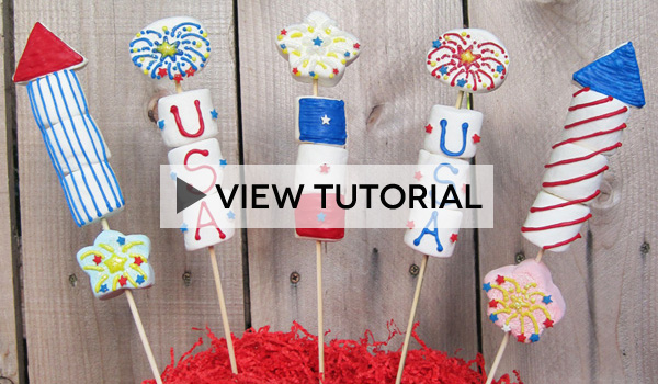 Marshmallow Fireworks Tutorial