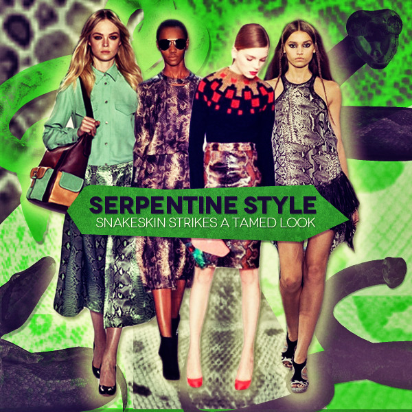 Serpentine Style Snakeskin Strikes A Tamed Look