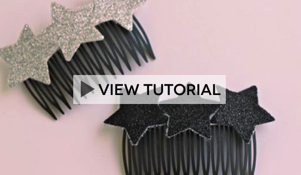 Star Hair Combs Tutorial
