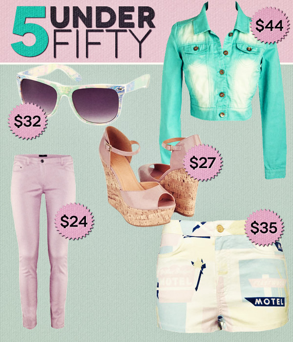 5 Under Fifty: Pretty In Pastels